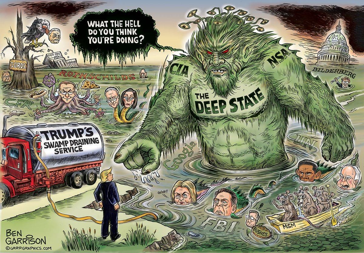 Trump Qanon & Co Besiegen Den Schattenstaat